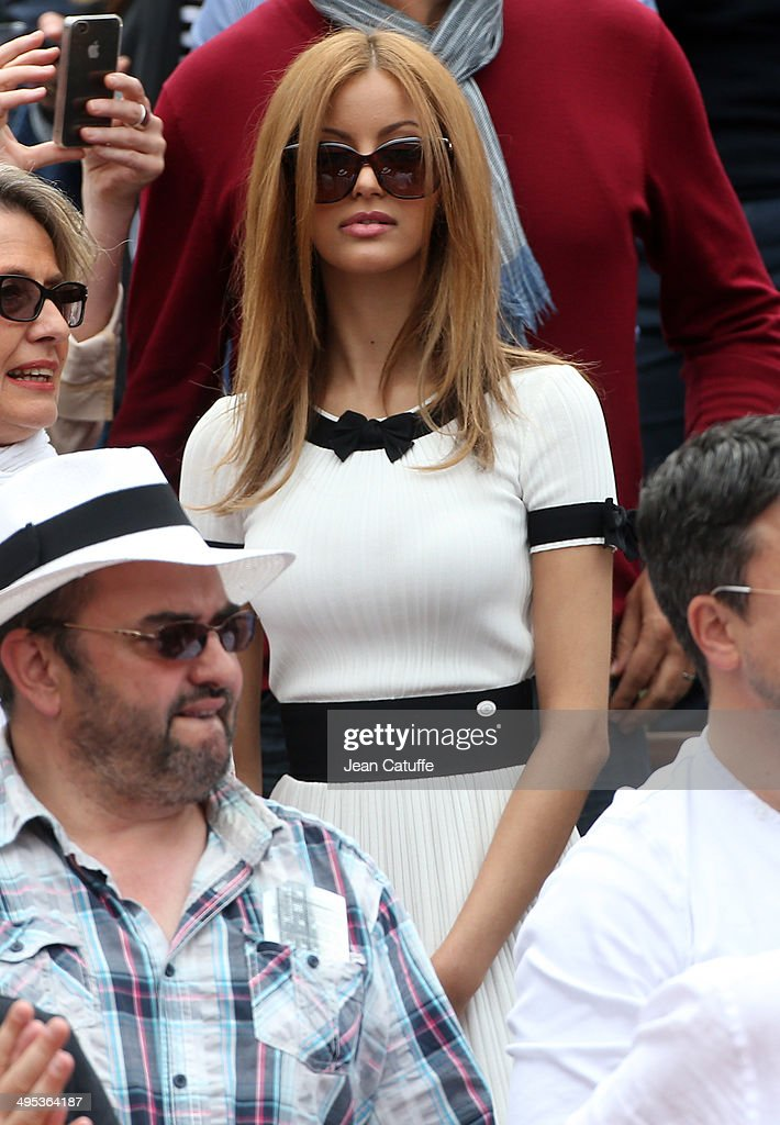 Zahia Dehar attends Day 8 of the French Open 2014 held at Roland-Garros stadium on June 1, 2014 in Paris, France.