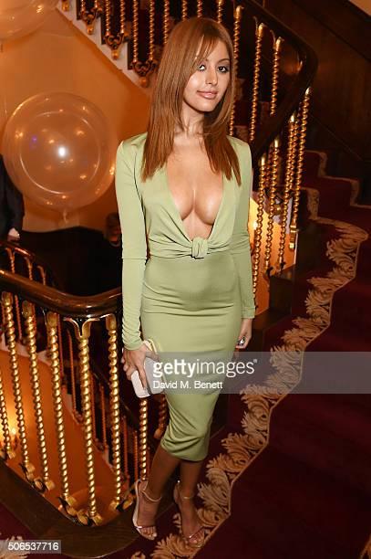 Zahia Dehar attends Lisa Tchenguiz's birthday party on January 23 2016 in London England