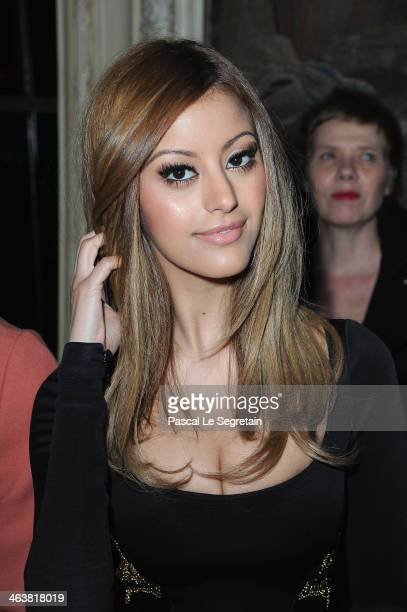 Zahia Dehar attends the Atelier Versace show as part of Paris Fashion Week Haute Couture Spring/Summer 2014 on January 19 2014 in Paris France