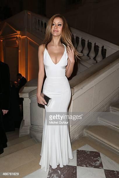 Zahia Dehar attends the David Khayat Association 'AVEC' Gala Dinner on February 3 2014 in Versailles France