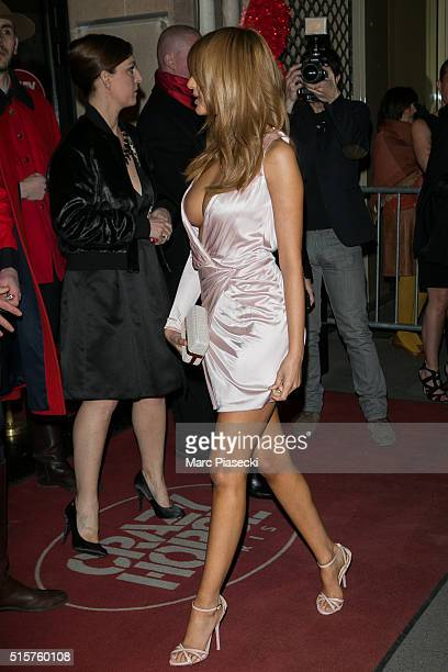 Zahia Dehar attends the 'Dita's Crazy Show' at Le Crazy Horse on March 15 2016 in Paris France