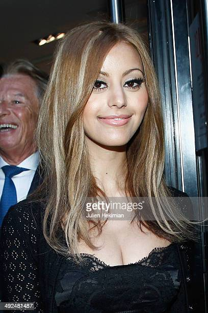 Zahia Dehar attends the Jiang Shanqing Exhibition At La Galerie '12 Drouot on May 20 2014 in Paris France