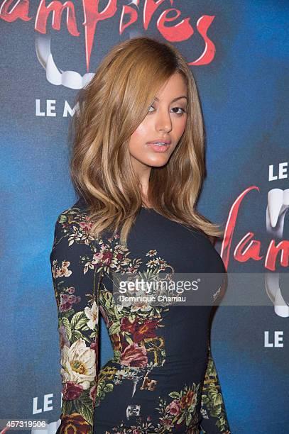 Zahia Dehar attends the 'Le Bal Des Vampires' Premiere at Theatre Mogador on October 16 2014 in Paris France
