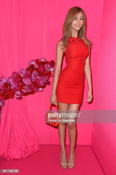Zahia Dehar attends the Schiaparelli show as part of Paris Fashion Week Haute Couture Fall/Winter 20142015 on July 7 2014 in Paris France