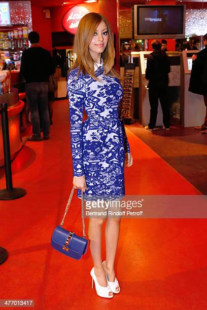 Zahia Dehar attends the screening of 'La valse de Marylore' short film Held at Cinema Gaumont Opera in Paris on March 6 2014 in Paris France This...