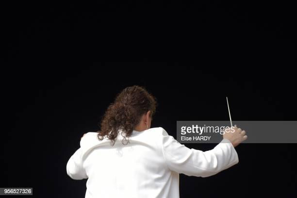 Zahia Ziouani chef dorchestre et directrice musicale lors de la fête de l'Humanité le 11 septembre 2016 Parc de la Courneuve France