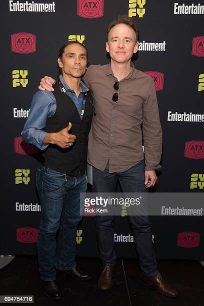 Zahn McClarnon and David Wilson Barnes attend the closing night Battlestar Galactica reunion and afterparty presented by Entertainment Weekly and...