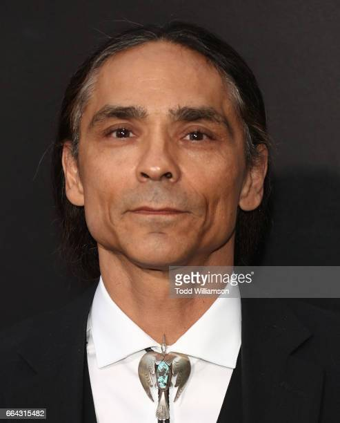 Zahn McClarnon attends the premiere Of AMC's 'The Son' at ArcLight Hollywood on April 3 2017 in Hollywood California