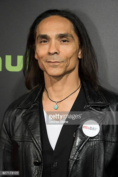 Zahn McClarnon attends the premiere of Hulu's 'Shut Eye' at ArcLight Hollywood on December 1 2016 in Hollywood California