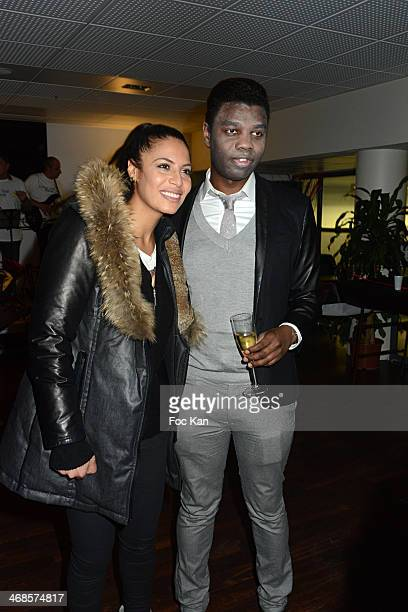 Zaho and Jean Barthelemy Bokassa attend the 'Sourire Gagnant' Charity Event to Benefit 'Enfant Star Et Match' At Sporting Tennis Club on February 10...