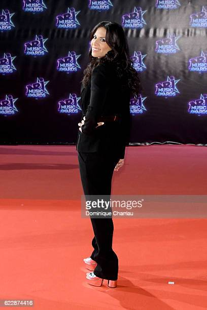 Zaho attends the Music Awards Red Carpet Arrivals at Palais des Festivals on November 12 2016 in Cannes France