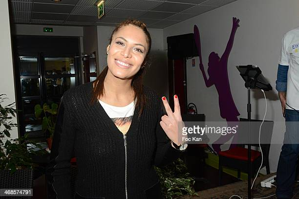 Zaho attends the 'Sourire Gagnant' Charity Event to Benefit 'Enfant Star Et Match' At Sporting Tennis Club on February 10 2014 in Paris France