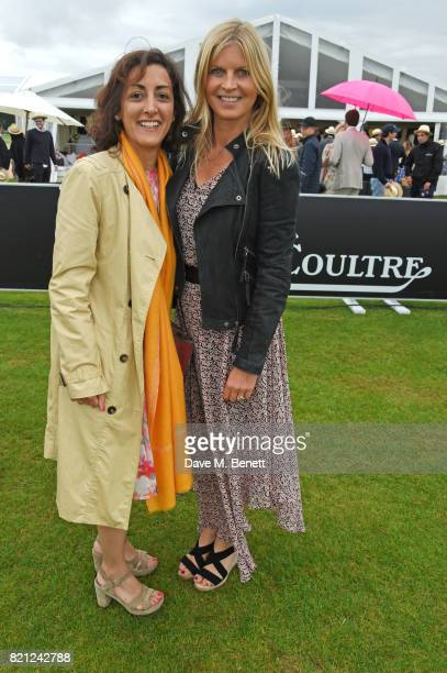 Zahra KassimLakha and Clare Mountbatten Marchioness of Milford Haven attend the JaegerLeCoultre Gold Cup Polo Final at Cowdray Park on July 23 2017...