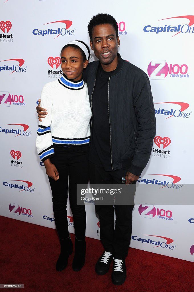Zahra Savannah Rock and Chris Rock attend Z100's Jingle Ball 2016 at Madison Square Garden on December 9, 2016 in New York City.