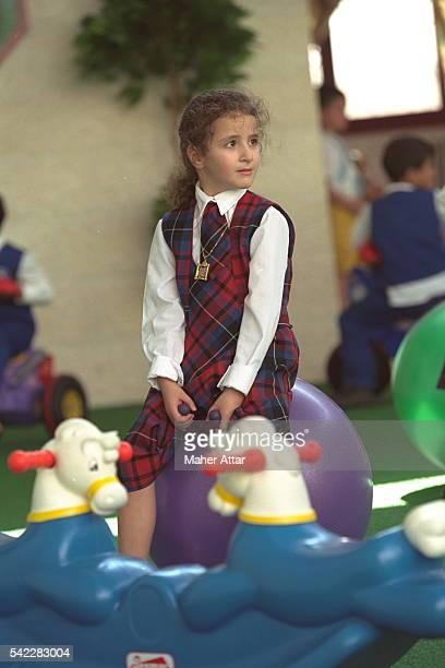 Zahwa Arafat in her school