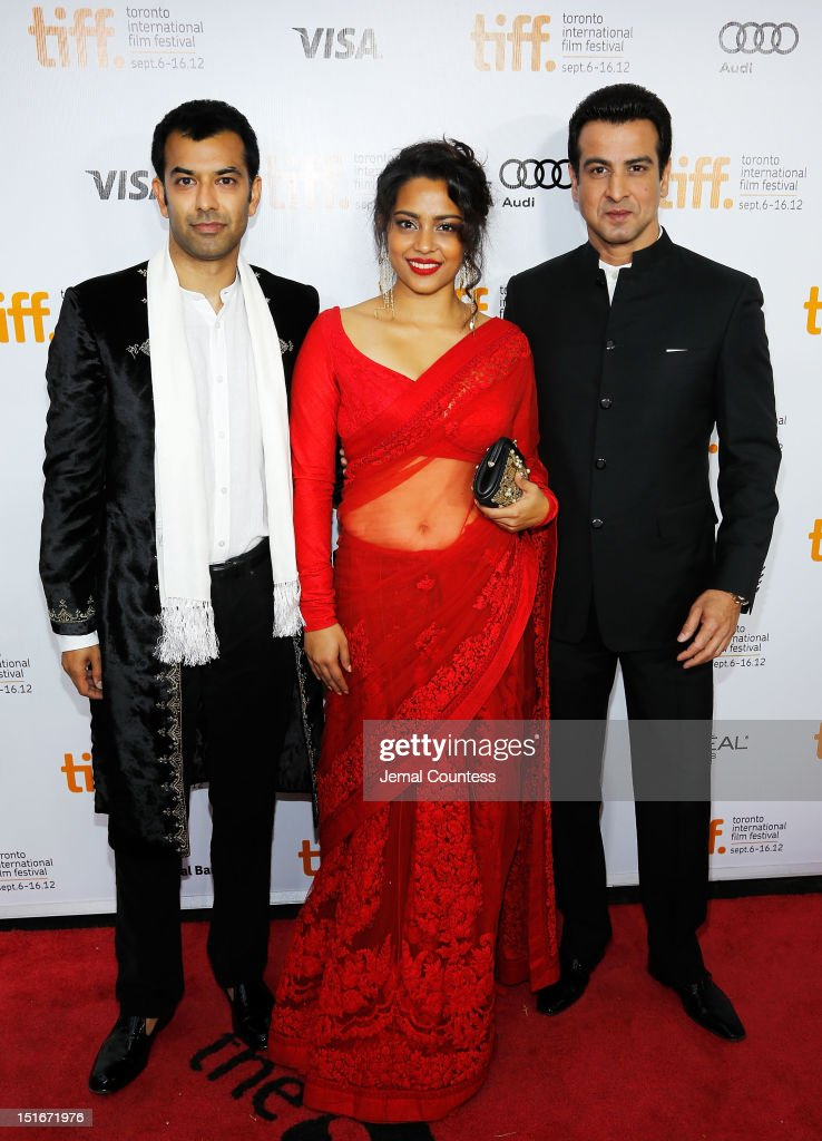 Zaib Shaikh, Shahana Goswami, and Ronit Roy arrive at the 'Midnight's Children' Premiere at the 2012 Toronto International Film Festival at Roy Thomson Hall on September 9, 2012 in Toronto, Canada.