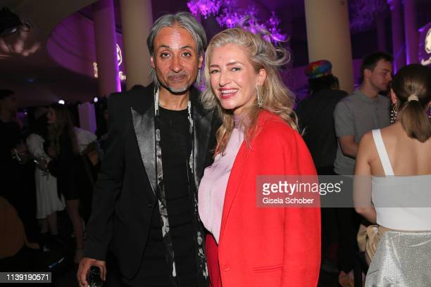 """Zaim Kamal, Creative Director of Montblanc and Hili Ingenhoven , Gala, during the """"To Berlin and Beyond with Montblanc: Reconnect To The World""""..."""
