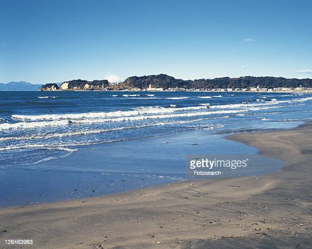 Zaimokuza Beach, Shonan, Kanagawa Prefecture, Japan, Front View, Pan Focus