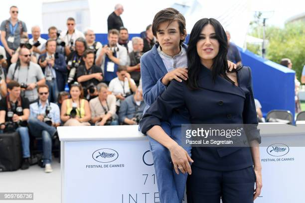 Zain Alrafeea and director Nadine Labaki attend theCapharnaum Photocall during the 71st annual Cannes Film Festival at Palais des Festivals on May 18...