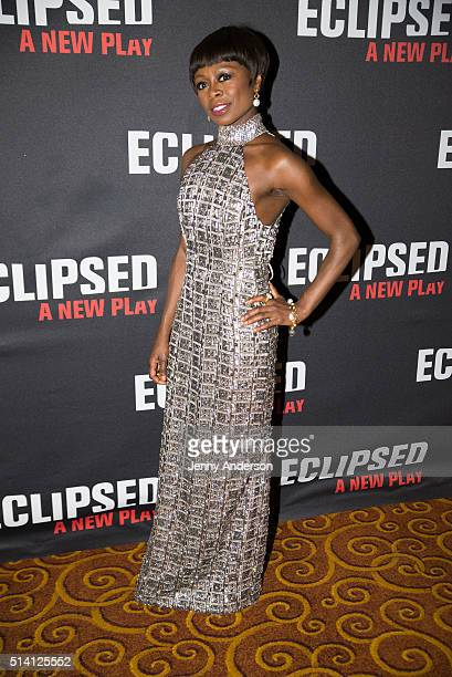 Zainab Jah attends Eclipsed Broadway Opening Night party at Gotham Hall on March 6 2016 in New York City