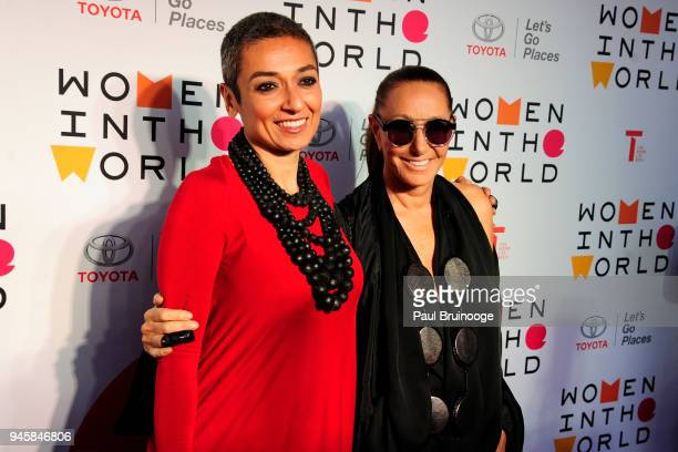 Zainab Salbi and Donna Karan attend the 2018 Women In The World Summit at David H Koch Theater Lincoln Center on April 12 2018 in New York City