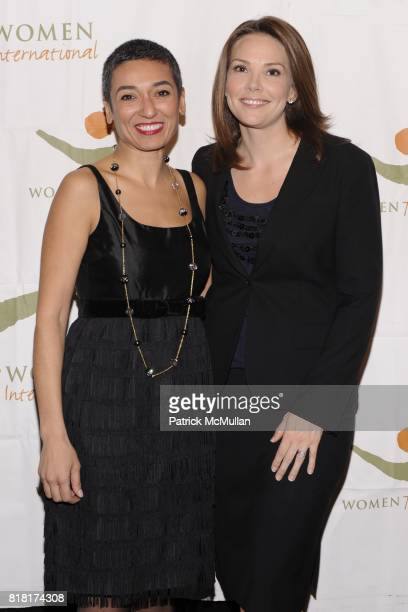 Zainab Salbi and Erica Hill attend WOMEN FOR WOMEN GALA at Chelsea Piers on November 9 2010 in New York City