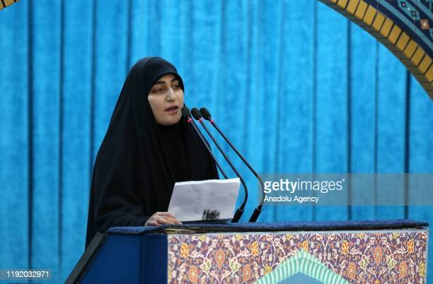Zainab Soleimani, daughter of Qasem Soleimani, commander of Iranian Revolutionary Guards' Quds Forces, who was killed in a U.S. Drone airstrike in...
