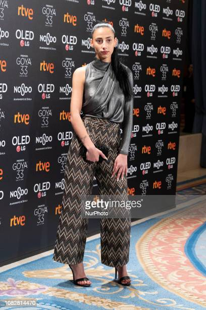 Zaira Morales attends the candidates to Goya Cinema Awards 2019 dinner party at the Royal Theatre on January 14 2019 in Madrid Spain