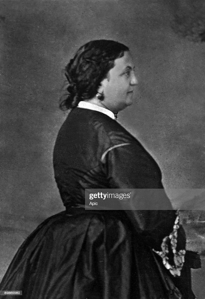 Zaire said Miss Nathalie Martel (1816 1885) comedienne photo published in 'Paris-theater' of 16 to 22 November 1876 Franck cliche : News Photo