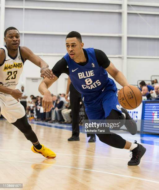 Zaire Smith of the Delaware Blue Coats handles the ball against the Fort Wayne Mad Ants during an NBA GLeague game on March 4 2019 at 76ers...