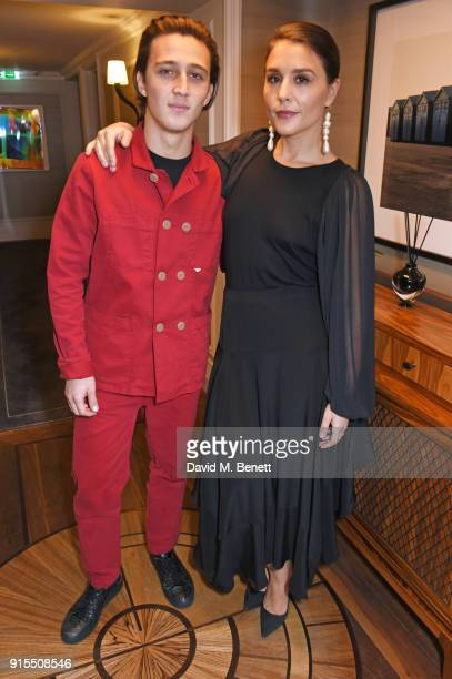 Zak Abel and Jessie Ware pose backstage before performing at The Arts Club on February 7 2018 in London England