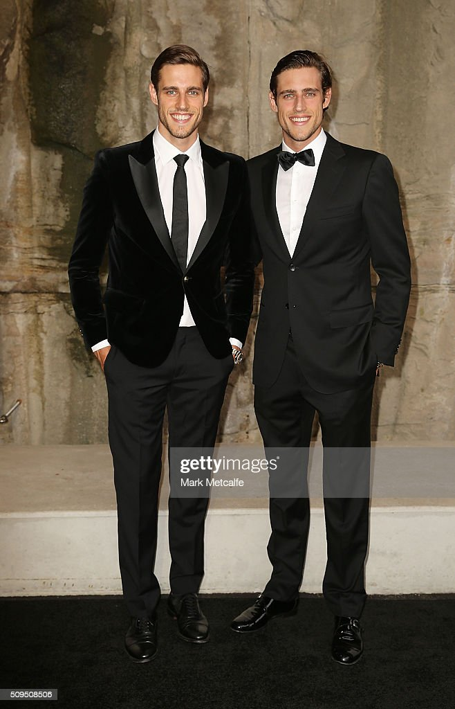Zak and Jordan Stenmark arrive ahead of the Myer AW16 Fashion Launch on February 11, 2016 in Sydney, Australia.