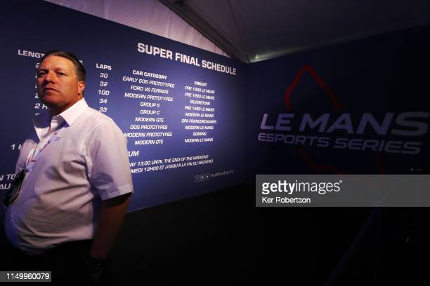 Zak Brown, Chief Executive Officer of McLaren Racing and owner of United Autosports attends the Le Mans Esports Series Super Finale in the Fan Zone...