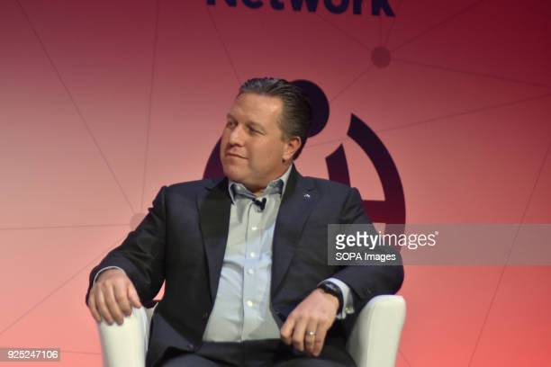 Zak Brown Executive Director of McLaren Technology Group seen at the Mobile World Congress 2018