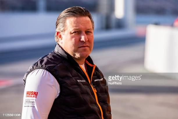 Zak Brown Team Chief of Mclaren F1 Team Renault MCL34 portrait during the Formula 1 2019 PreSeason Tests at Circuit de Barcelona Catalunya in...