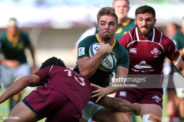 Zak Burger of South Africa during the U20 World Championship match between South Africa and Georgia on May 30 2018 in Perpignan France
