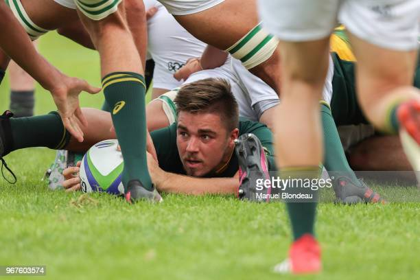Zak Burger of South Africa U20 during the U20 World Championship match between Ireland and South Africa on June 3 2018 in Narbonne France