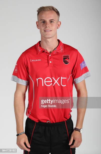 Zak Chappell of Leicestershire poses for a photograph during the Leicestershire County Cricket photocall held at Grace Road on April 11 2018 in...