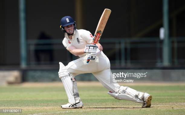 Zak Crawley of England bats during the tour match between SLC Board President's XI and England at P Sara Oval on March 12 2020 in Colombo Sri Lanka