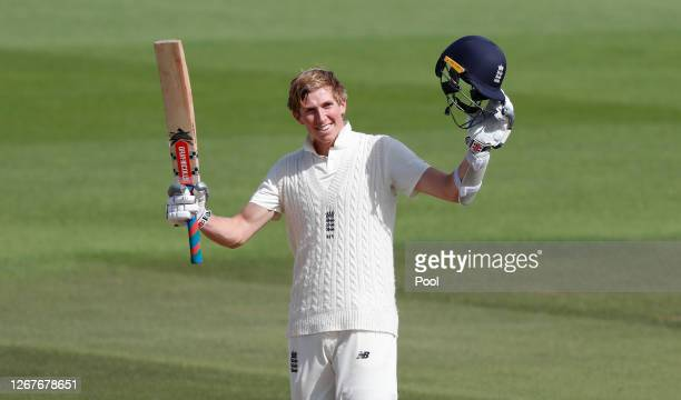 Zak Crawley of England celebrates after reaching his double century during Day Two of the 3rd #RaiseTheBat Test Match between England and Pakistan at...