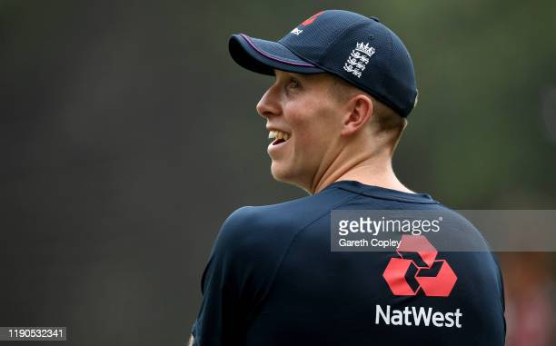 Zak Crawley of England during a nets session at Seddon Park on November 28, 2019 in Hamilton, New Zealand.