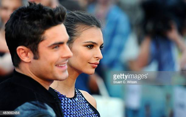 Zak Efron and Emily Ratajkowski attend the European Premiere of 'We Are Your Friends' at Ritzy Brixton on August 11 2015 in London England