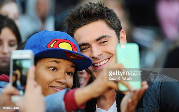 Zak Efron attends the European Premiere of We Are Your Friends at Ritzy Brixton on August 11 2015 in London England