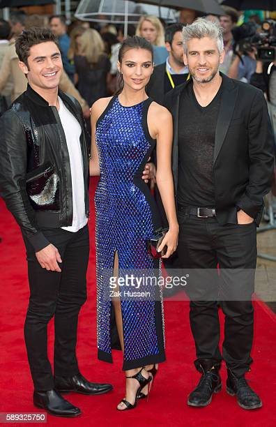 Zak Efron Emily Ratajkowski and Max Joseph arriving at the European Premiere of We Are Your Friends at the Ritzy Brixton in London