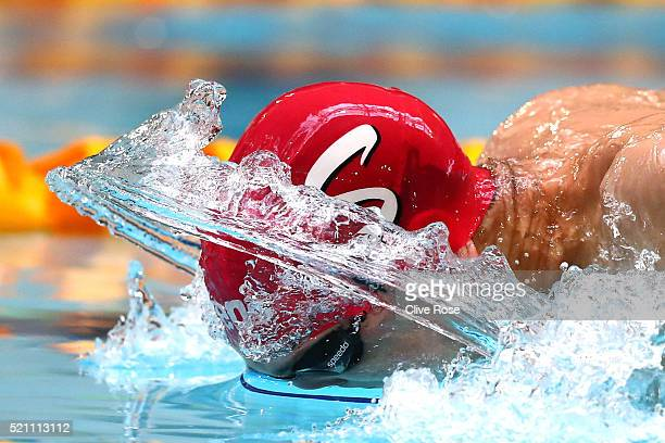 Zak Logue of Great Britain competes in the Men's 400 Individual Medley heats on day three of the British Swimming Championships at Tollcross...