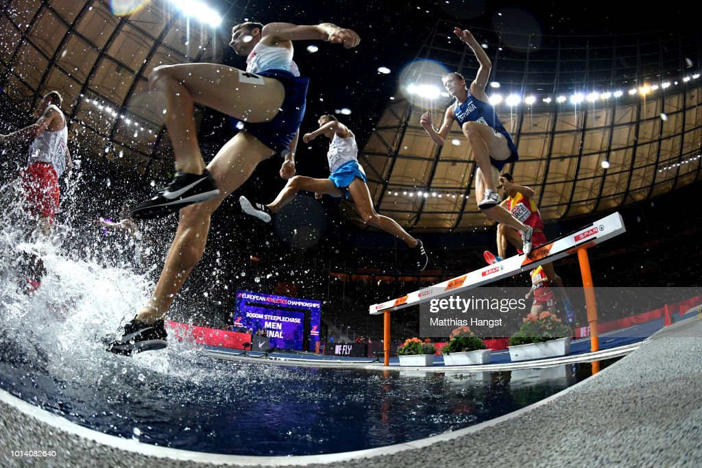 Zak Seddon of Great Britains competes in the Men's 3000m Steeplechase during day three of the 24th European Athletics Championships at Olympiastadion on August 9, 2018 in Berlin, Germany. This event forms part of the first multi-sport European Championships.