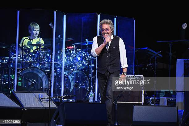 Zak Starkey and Roger Daltrey of The Who perform onstage during the MusiCares MAP Fund Benefit Concert at Best Buy Theater on May 28 2015 in New York...