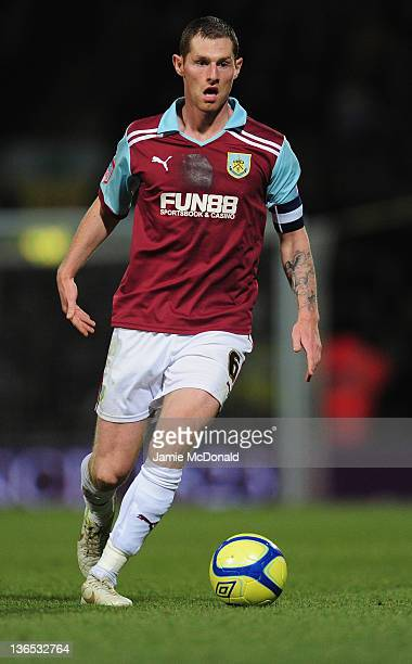 Zak Whitbread of Burnley in action during the FA Cup Third Round match sponsored by Budweiser between Norwich City and Burnley at Carrow Road on...