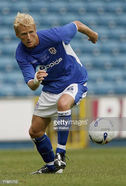 Zak Whitbread of Millwall in action during the friendly match between Millwall and Charlton Athletic at the New Den on July 22 2006 in London England