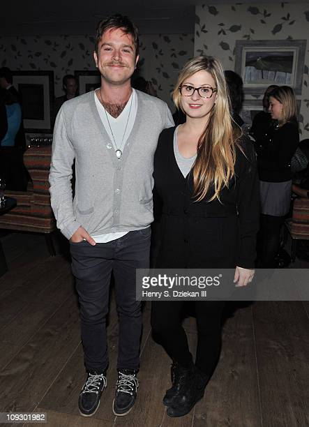 Zak Williams and Alex Williams attend the launch of the second issue of Aleim magazine at Crosby Hotel on February 19 2011 in New York City